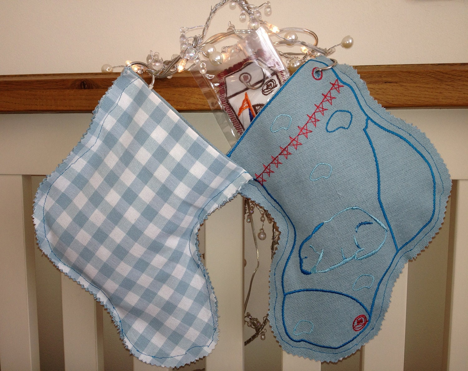 Gift Sock Stocking, Embroidery Polar Bear