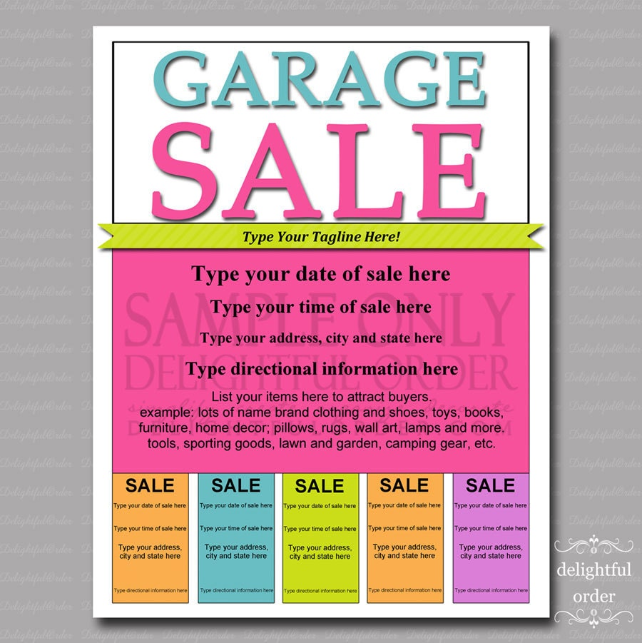 Delightful Order: Hosting a MORE Organized Garage Sale
