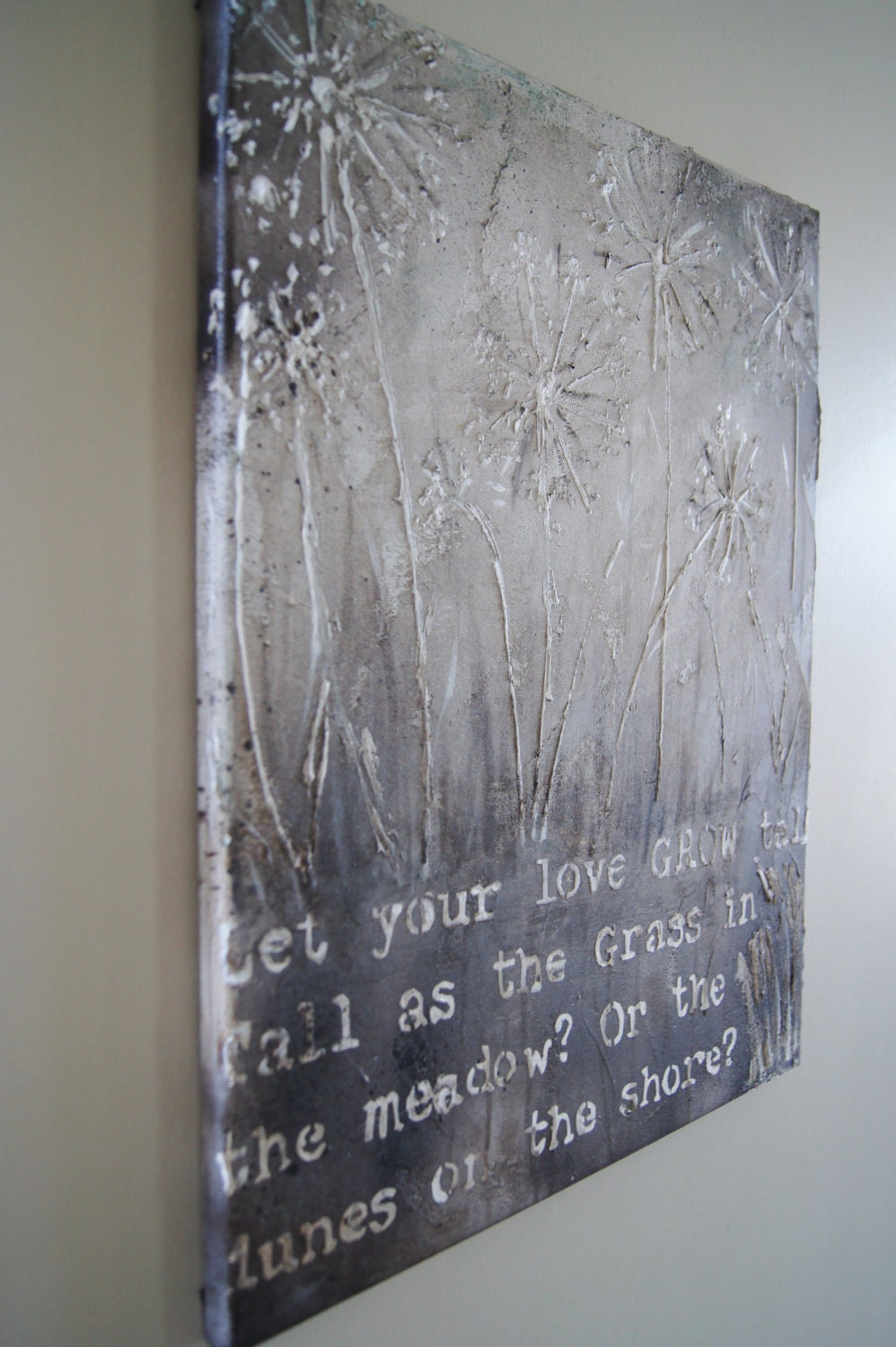 Original Textured Painting - Inspirational Words-lyrics