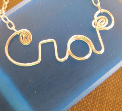 Crap Necklace in Sterling Silver