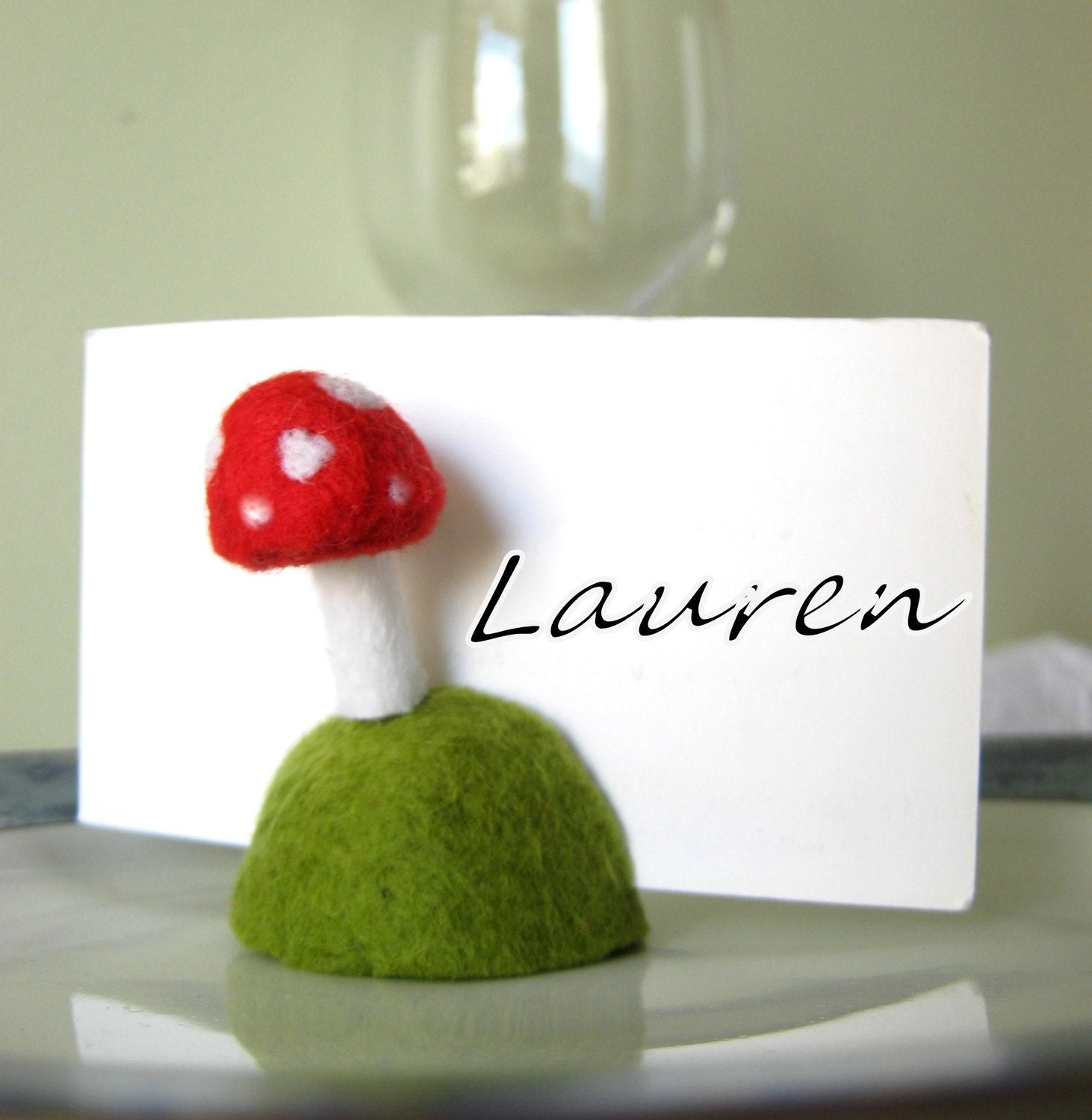 Wedding  -  Name Card - Menu Holder - Photo Stand - Party Favor - SET OF 10