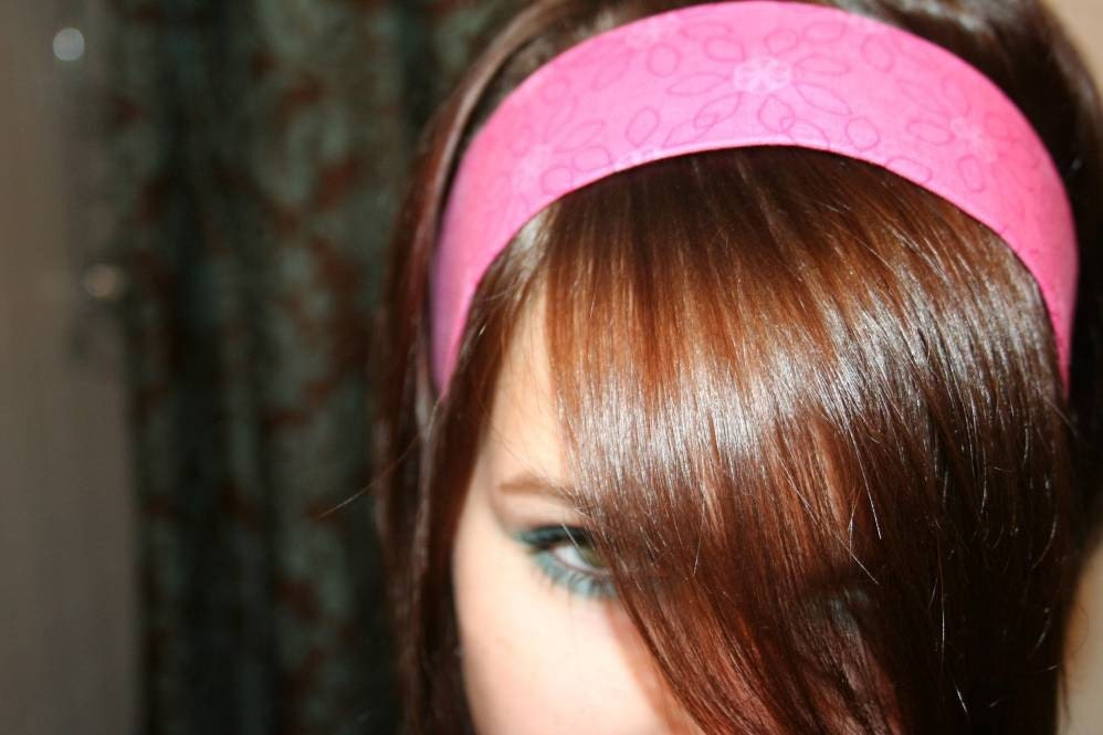Hot Pink Daisy NO SLIP HEADBAND