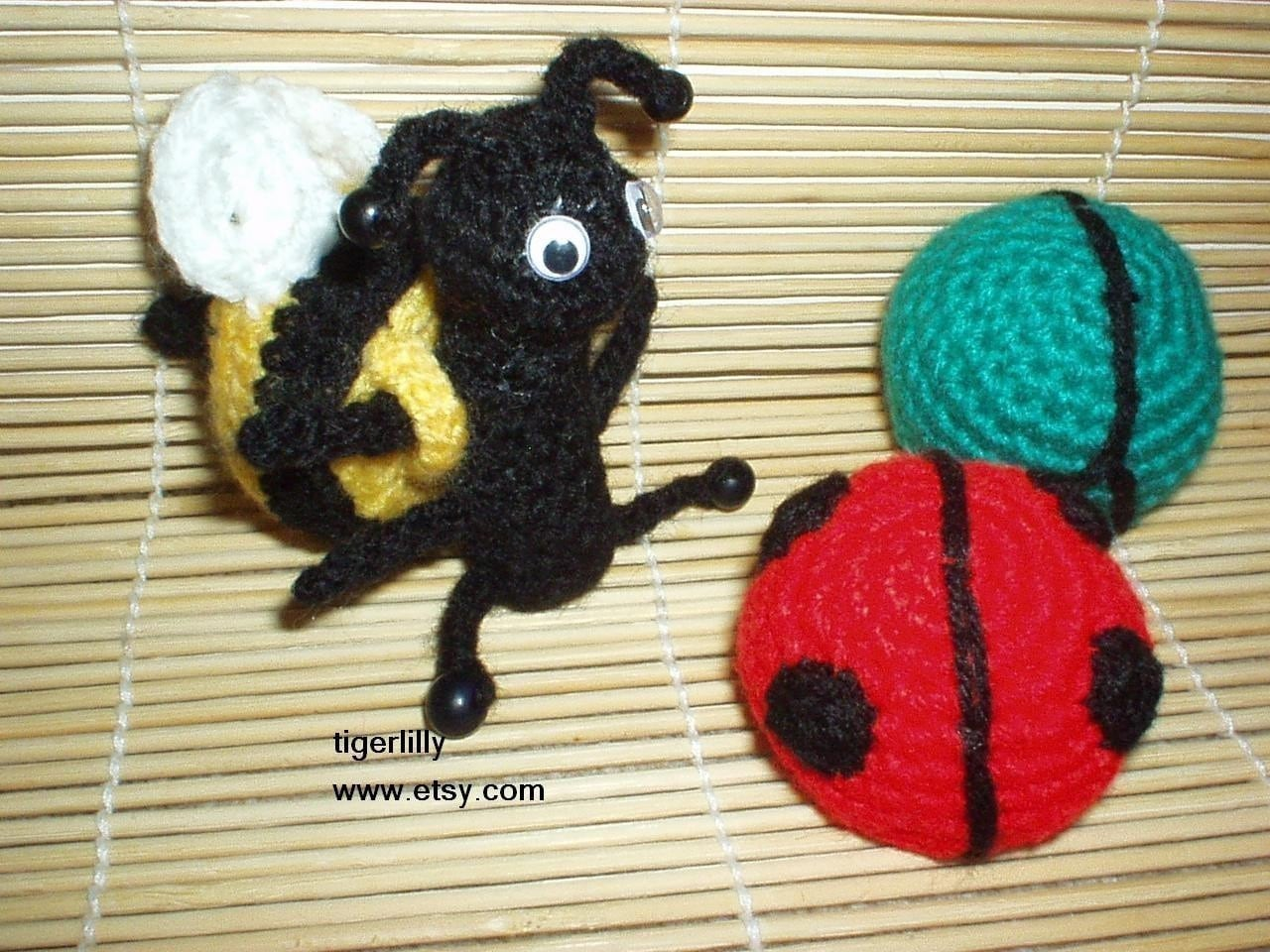 Amigurumi insect crochet pattern ladybug beetle and by ...