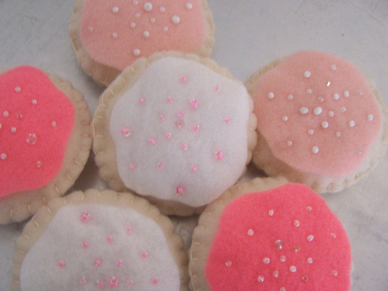 Felt Cookies - Pretty in Pink