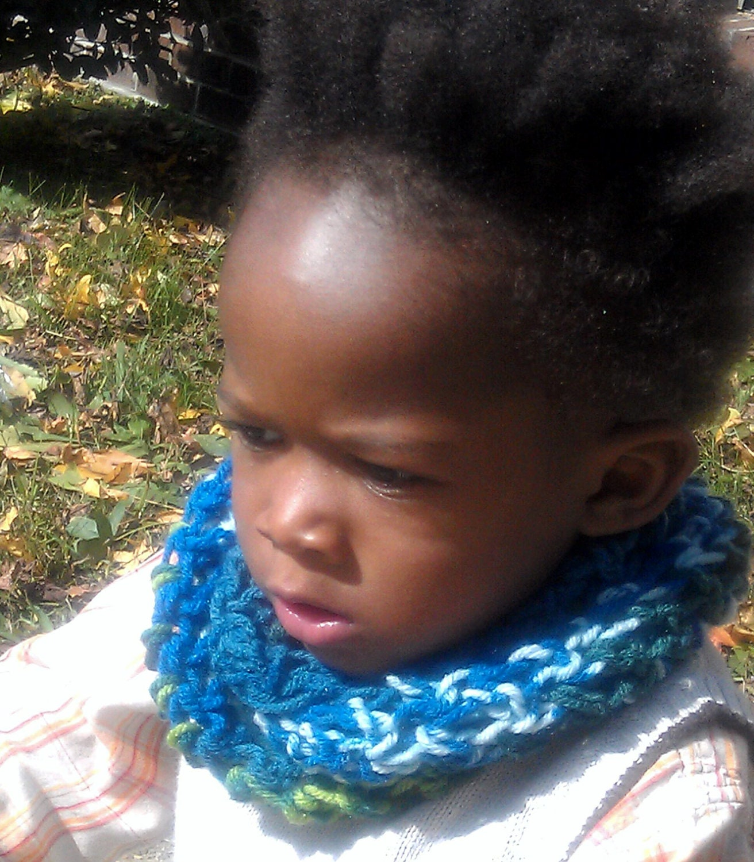 Children's Rainbow  Crochet  Cowl, Circle Scarf, Infinity Scarf