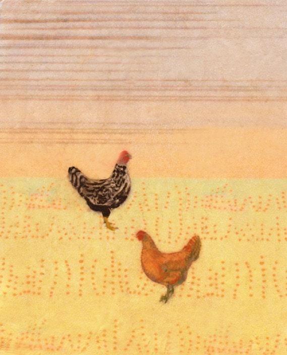 Chicken Scratch - 8.5x11 peach print