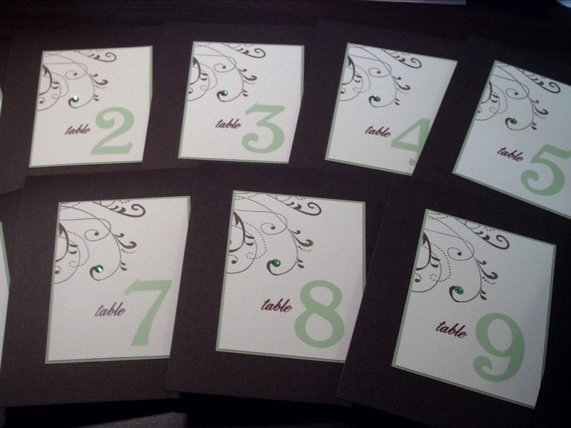Stylish Swirl Table Number Card - Sample