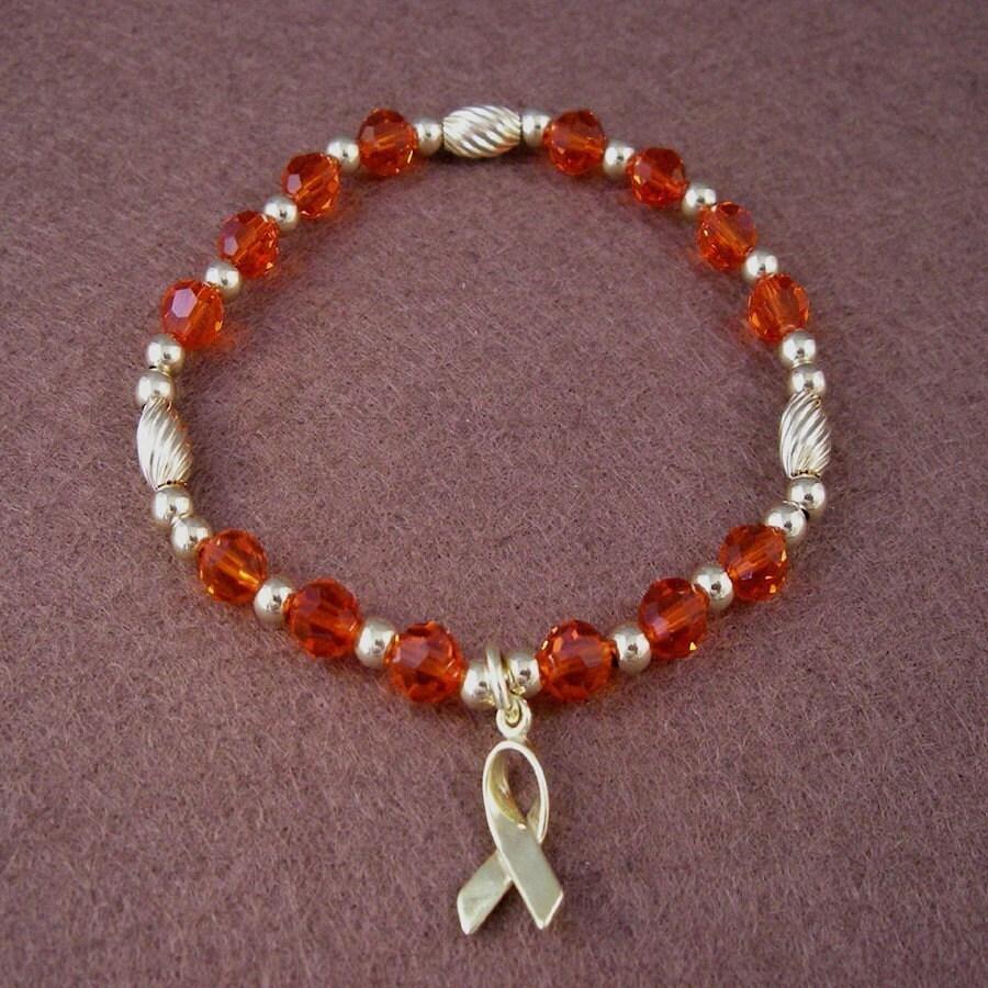 leukemia awareness bracelet swarovski by crystalsofhope on