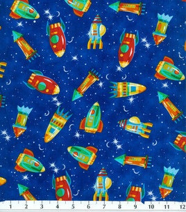 Popular items for space fabric on etsy for Outer space themed fabric