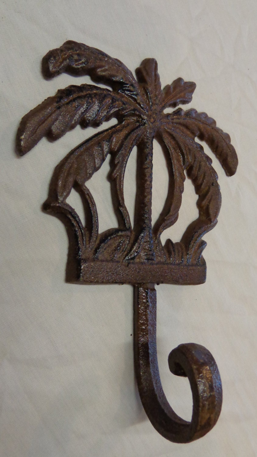Items Similar To Palm Tree Hook Beach Decor Towel Hanger