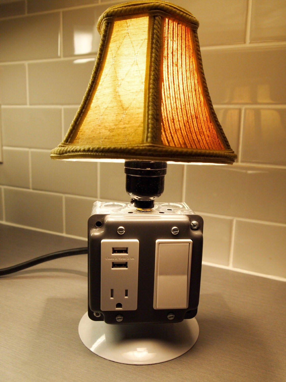 Table Or Desk Lamp With USB Charging Station By BossLamps