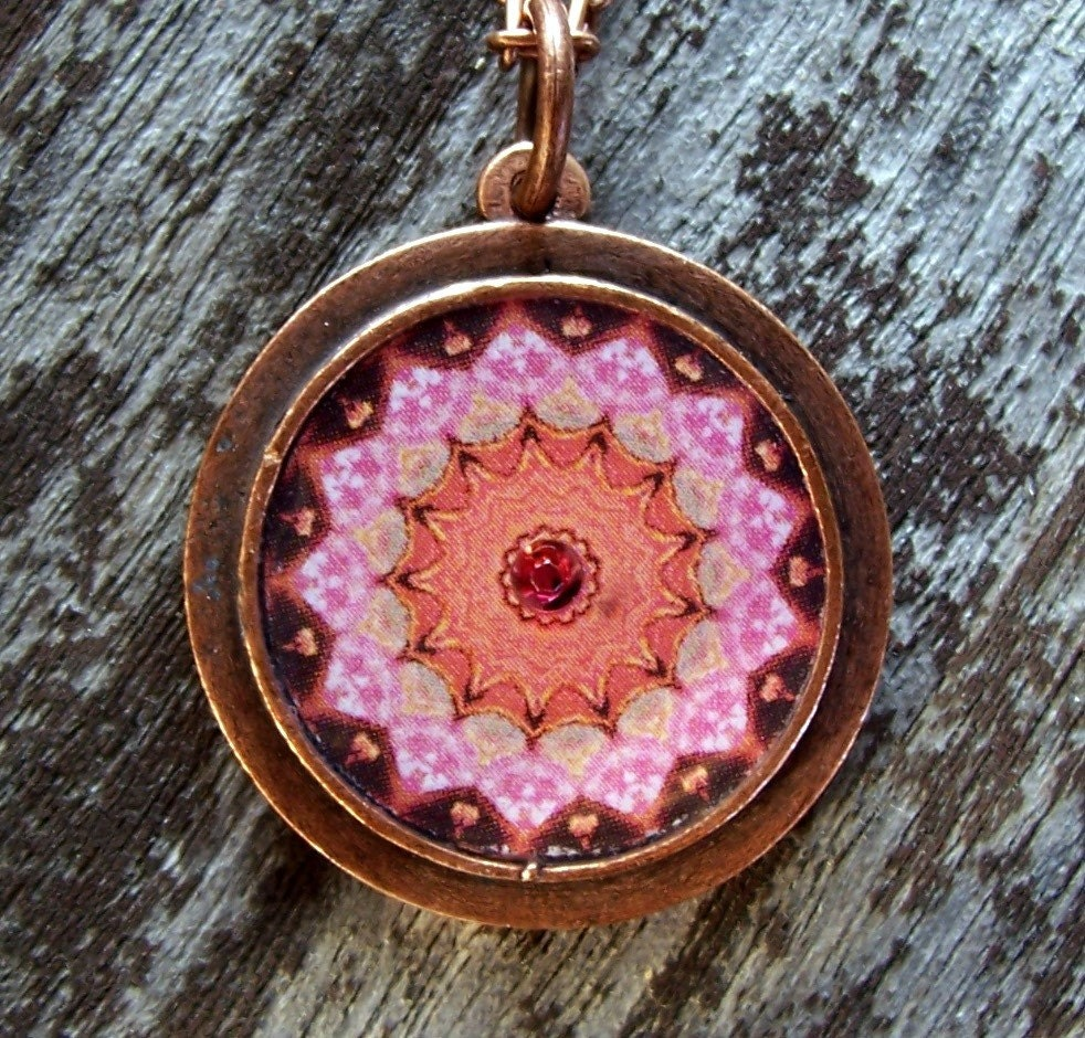 Tickled Pink Metal Pendant