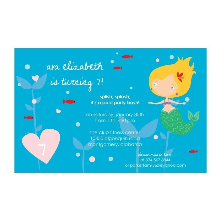 pool party invitations for girls. Sweet Wishes#39; 70 Girls