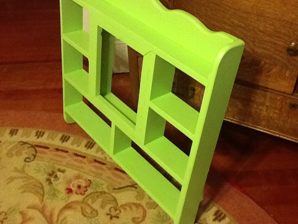 Vintage Green Divided Wall Shelf by ThePuppyDogTails on Etsy