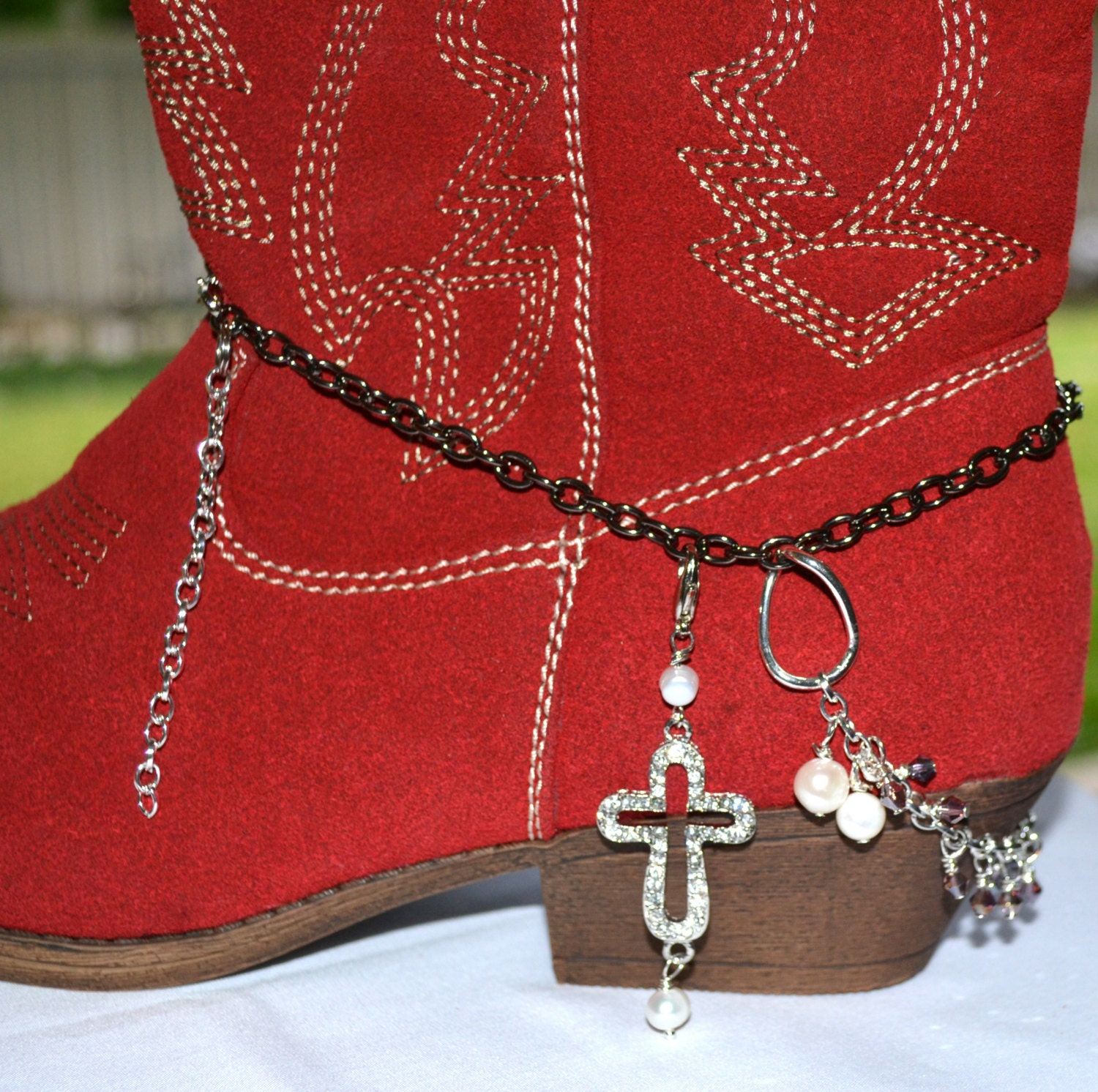 boot bling boot jewelry boot bracelet boot by cowgirlupladies