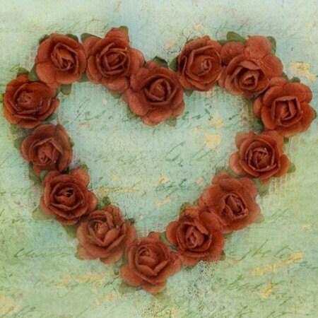 Розабелла сердца (4x4 дюйм холст мини)
