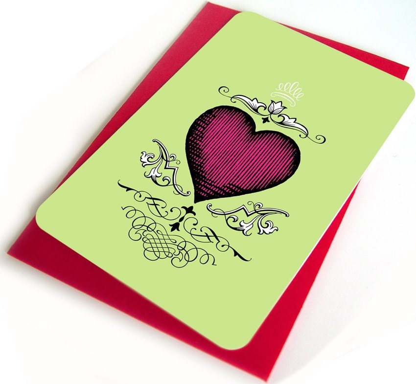I heart you - set of 4 notecards and envelopes