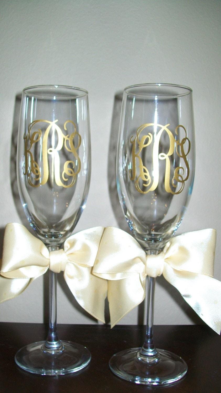 Custom Wedding Wine Glasses Canada : Items similar to Personalized Wedding Champagne Flutes on Etsy
