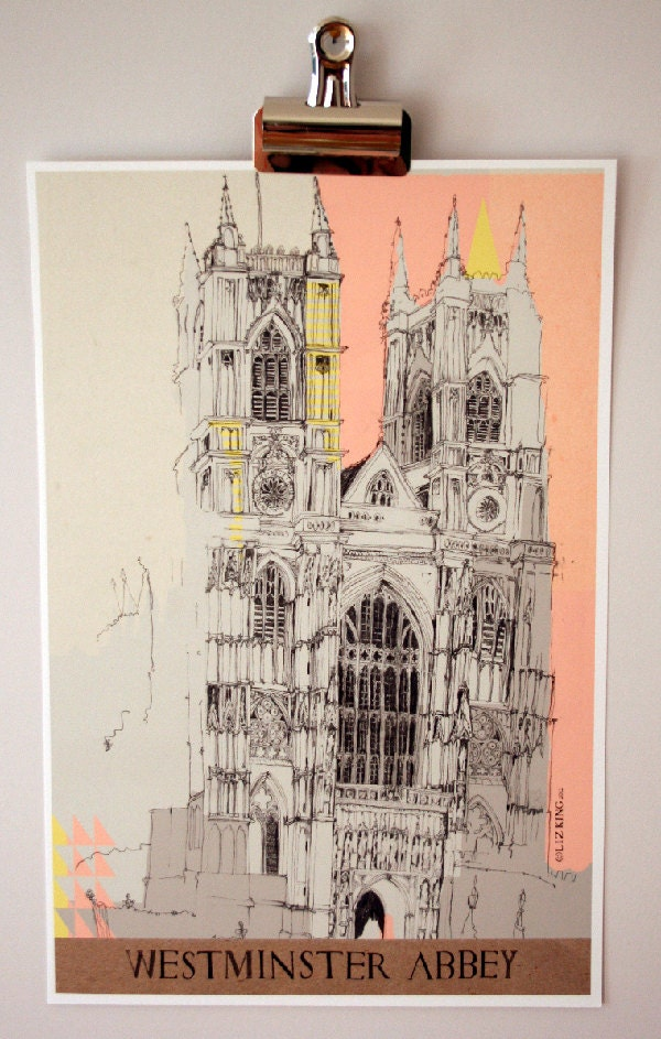 Westminster Abbey Glicee Print