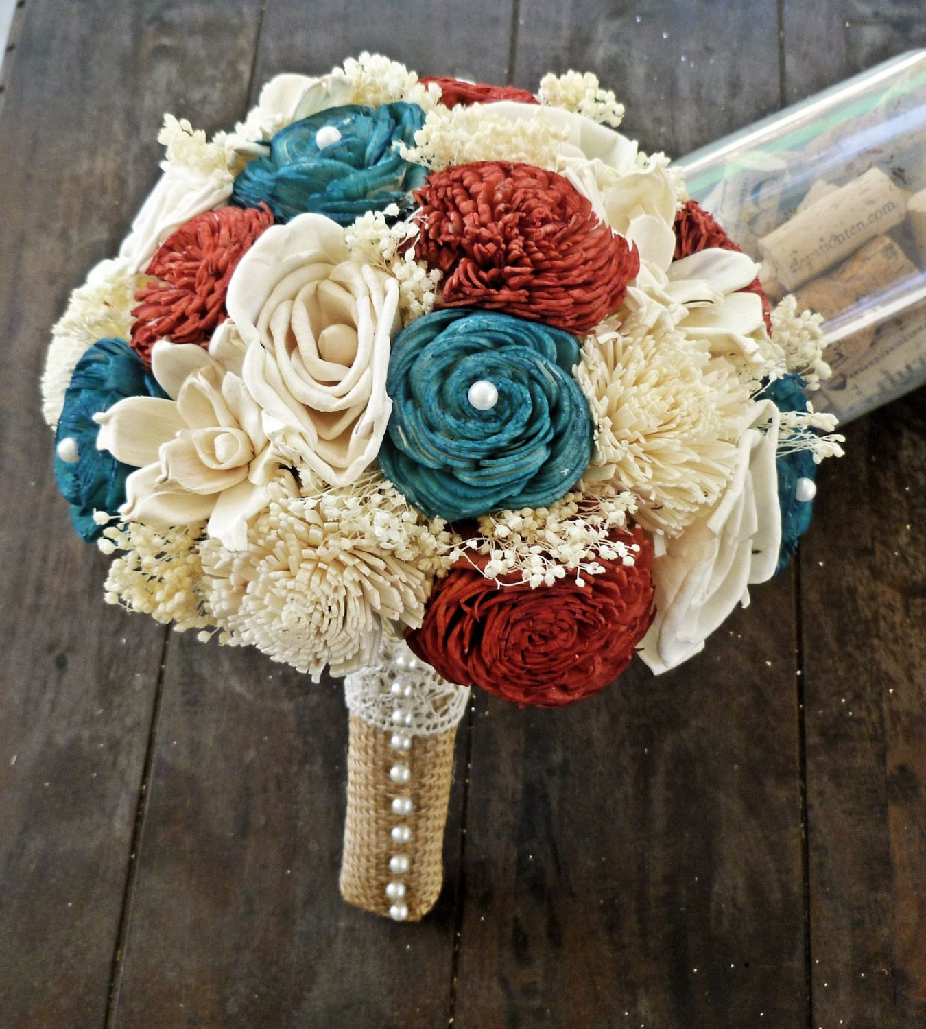White Wedding Flowers July : Ready to ship th of july wedding bouquet red by curiousfloral