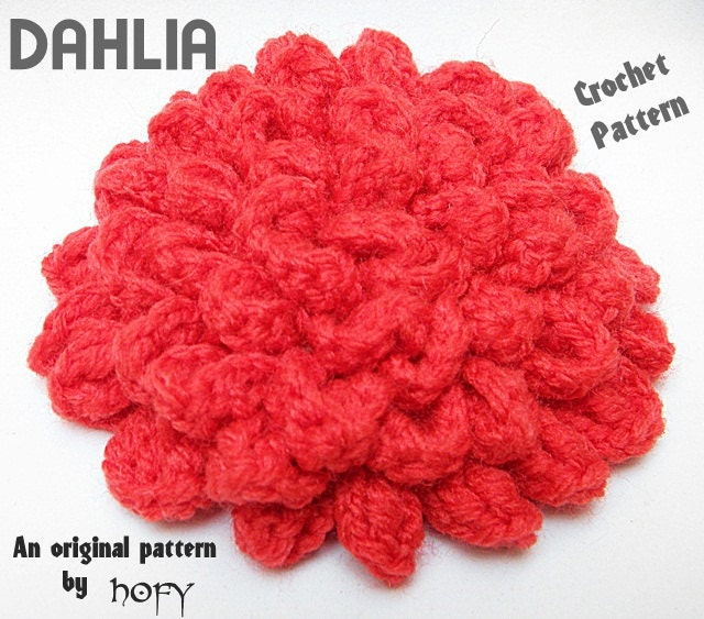 Crochet Flower Pattern Dahlia : CROCHET PATTERN: Dahlia Crochet Pattern by HANDMADEONLYFORYOU