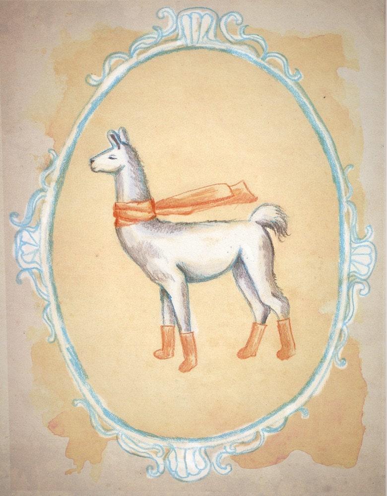 Llama Socks Print