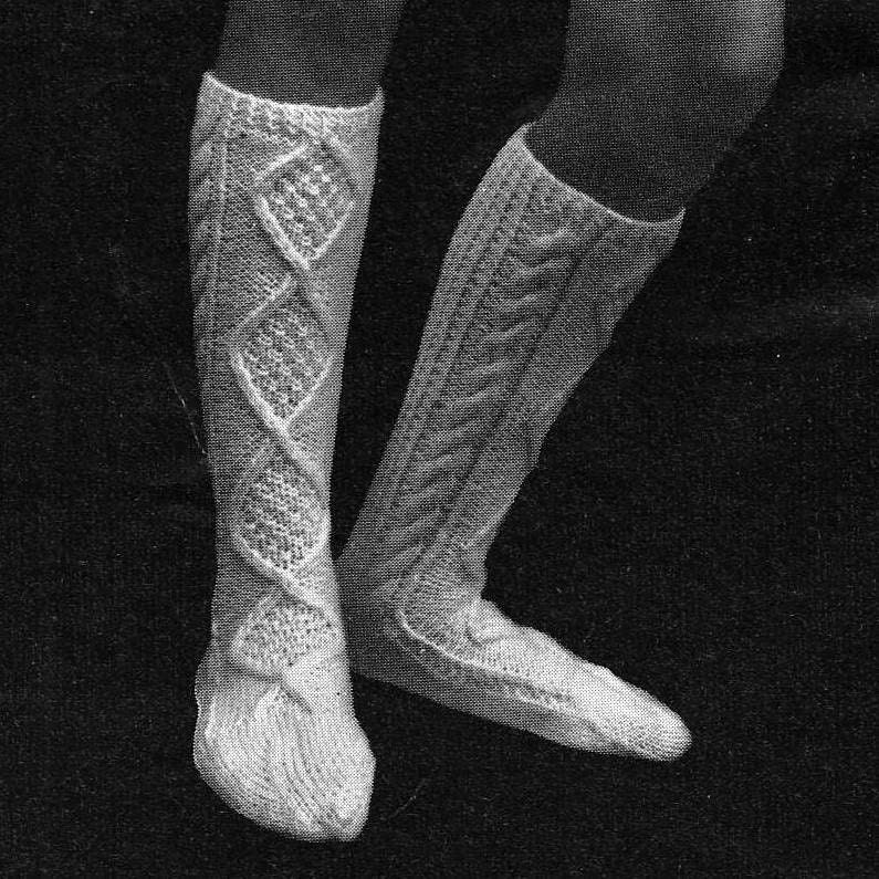 Boot Socks Knitting Pattern : INSTANT DOWNLOAD PDF Vintage Knitting by PastPerfectPatterns