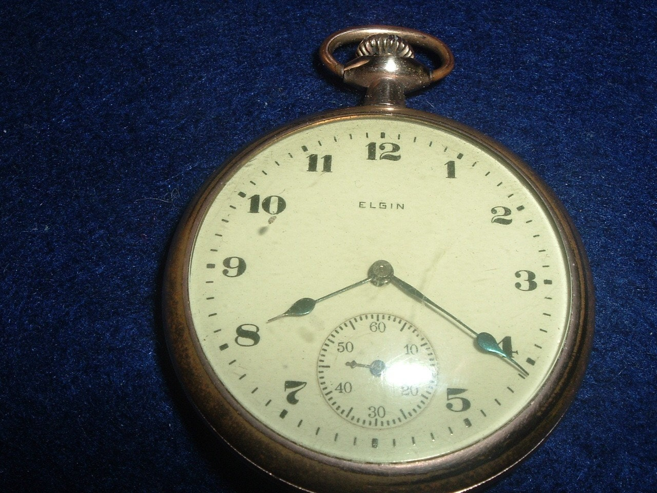 VINTAGE ELGIN 16 SIZE 7 JEWELS POCKET WATCH RUNS GOOD