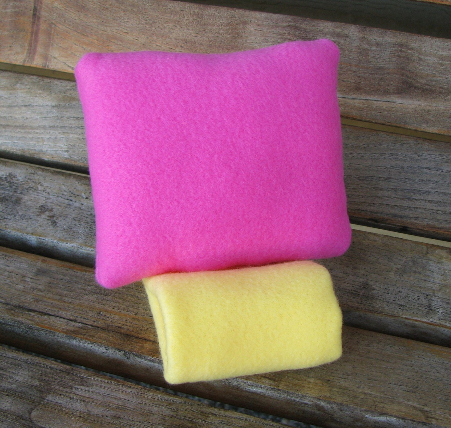 Car Comfort Toddler Booster Seat Child Seatbelt Cover Travel Neck Pillow by SleepyTimez - Pink and Yellow