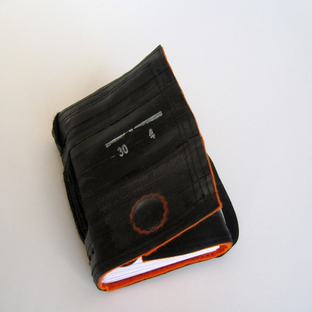 Bicycle inner tube notebook