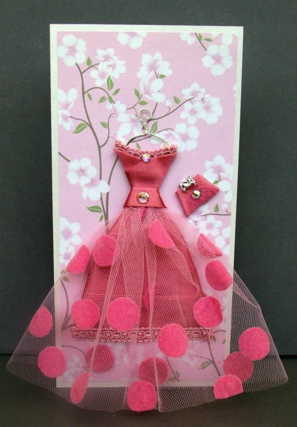 Платье из бумаги своими руками для открытки