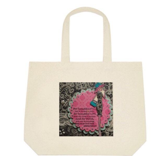 Sweet 16 ideas Tote Bag Audrey Hepburn bag birthday gift friendship gift cotton bag carry bag BFF gift shoulder bag eco bag.