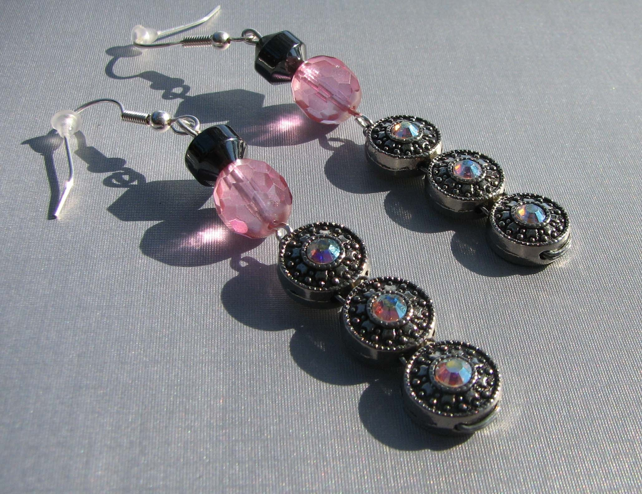 LA BELLA Rhinestone Dangle Earrings- Swarovski