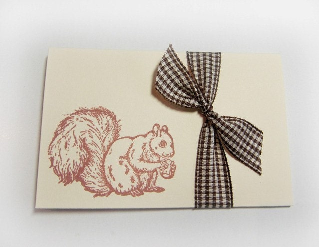 Nutty Squirrel- blank cards( Set of 4)