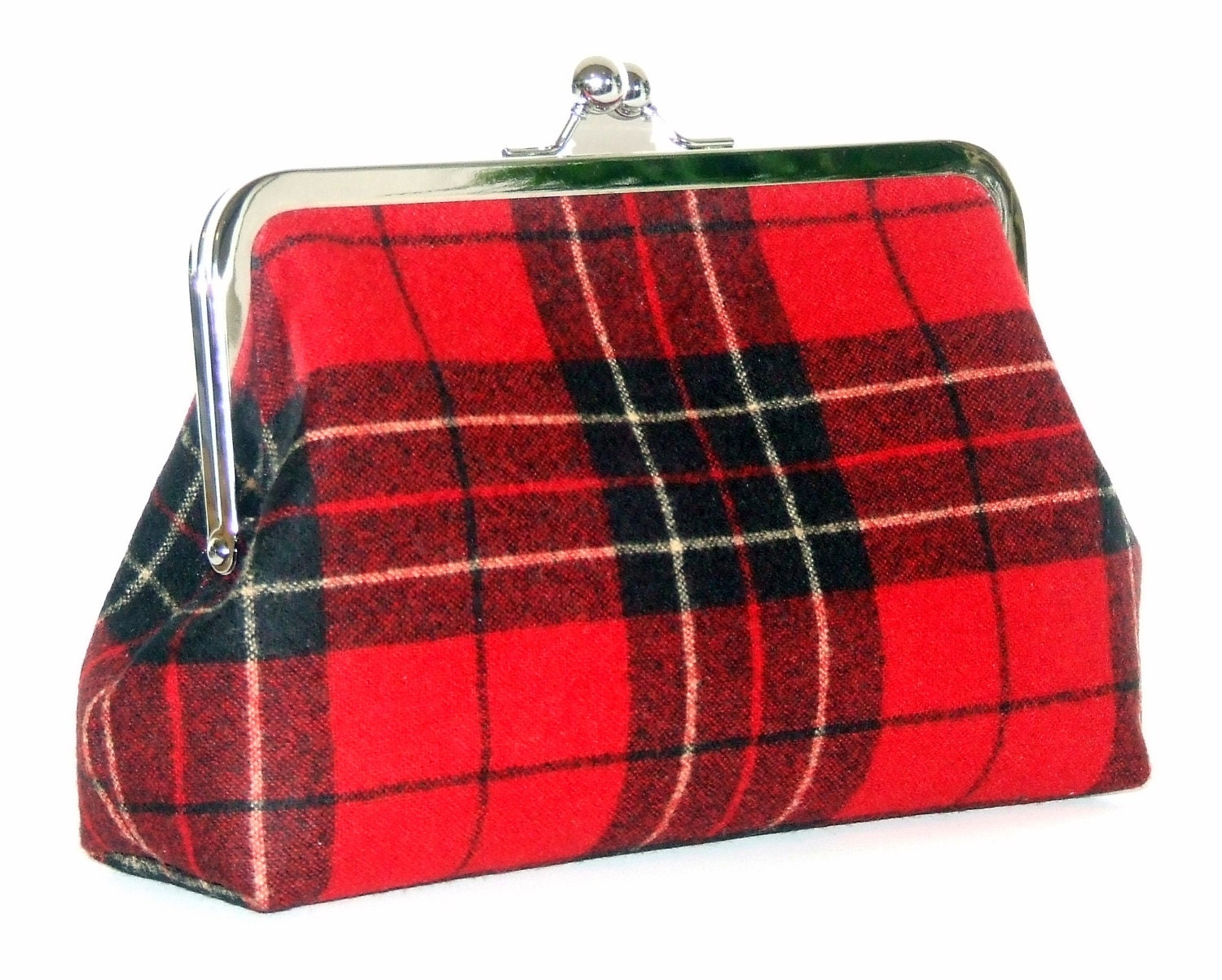 Pendleton Wool Clutch - Red and Black Brodie Tartan Plaid