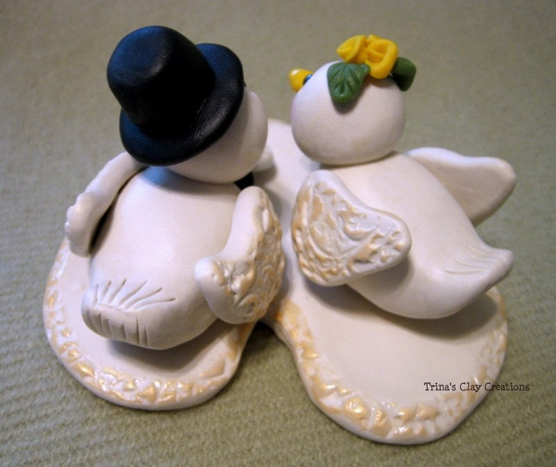 Dove Wedding Cake Topper