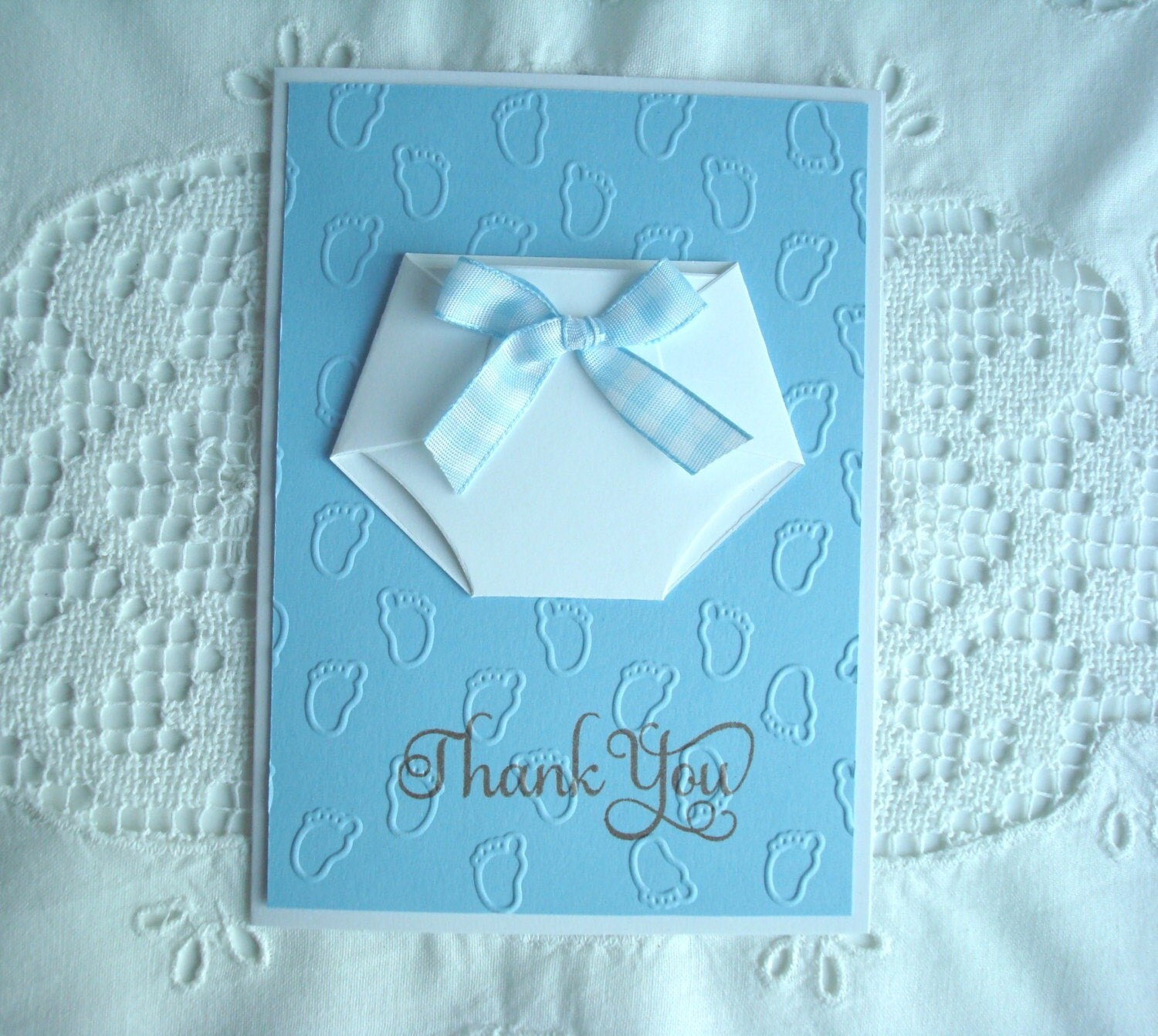 thank you for the baby gift message inside diaper baby shower
