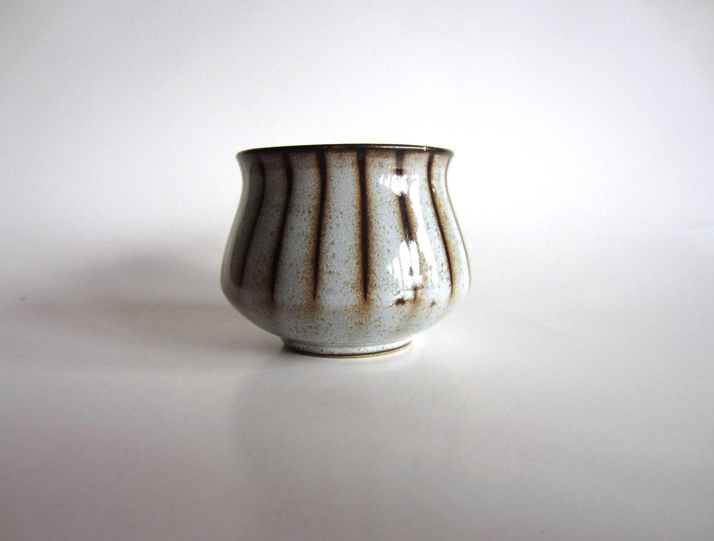 Vintage Sugar Bowl Denby Studio Grey Striped Mid Century Modern 60s England - pillowsophi