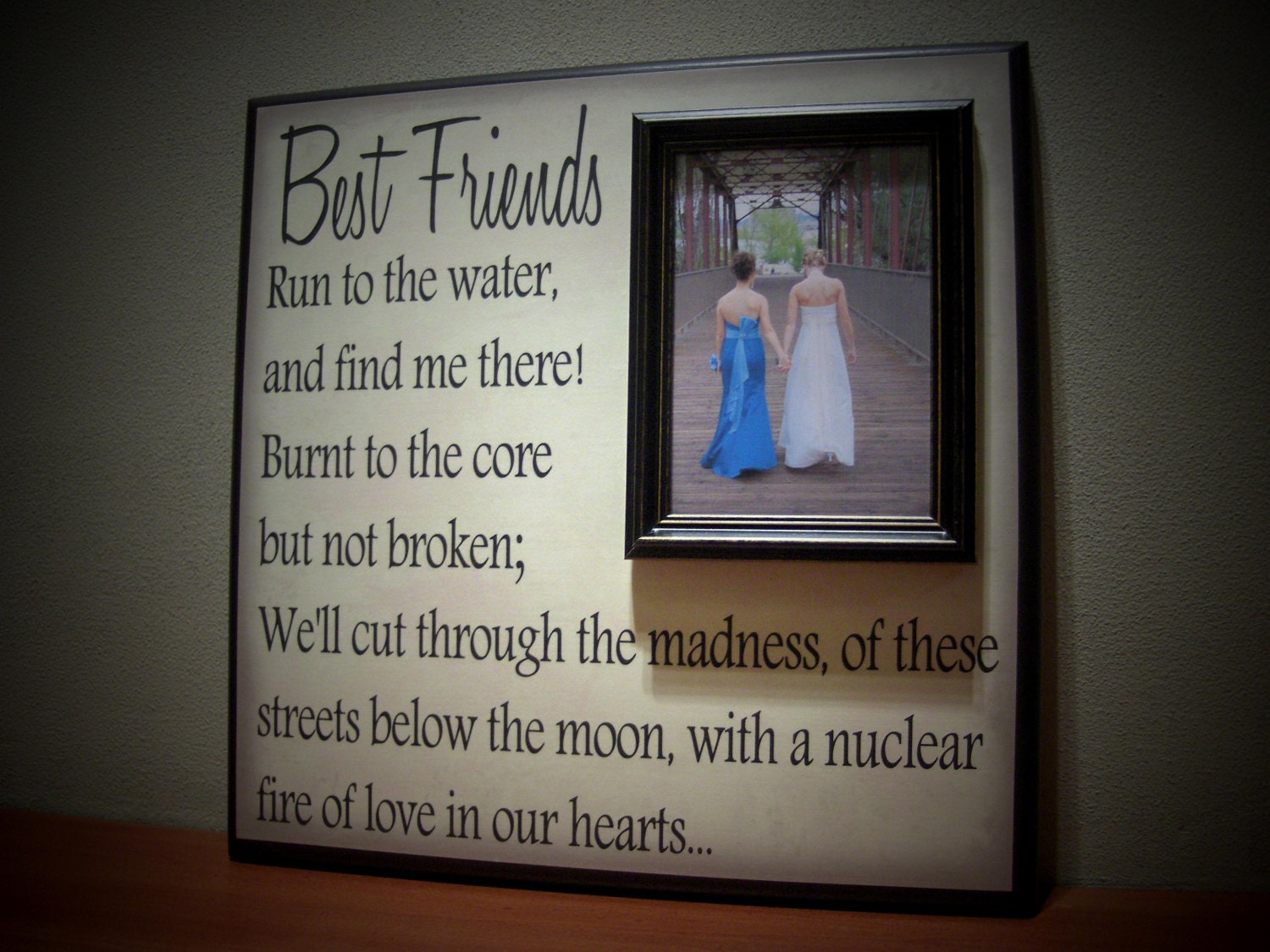 Best friends picture frame maid of honor by yourpicturestory
