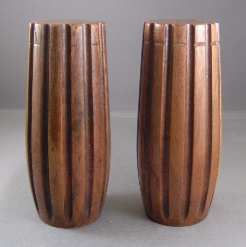 Salt and Pepper Shakers Made from Old Piano Bench Legs