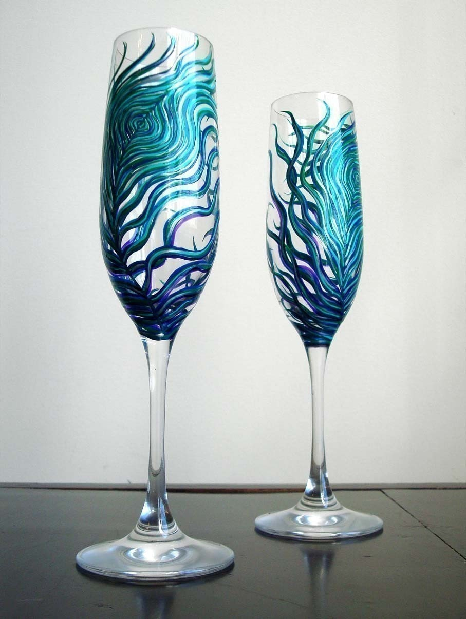 Detail to love toasting flutes every last detail - Unusual champagne flutes ...
