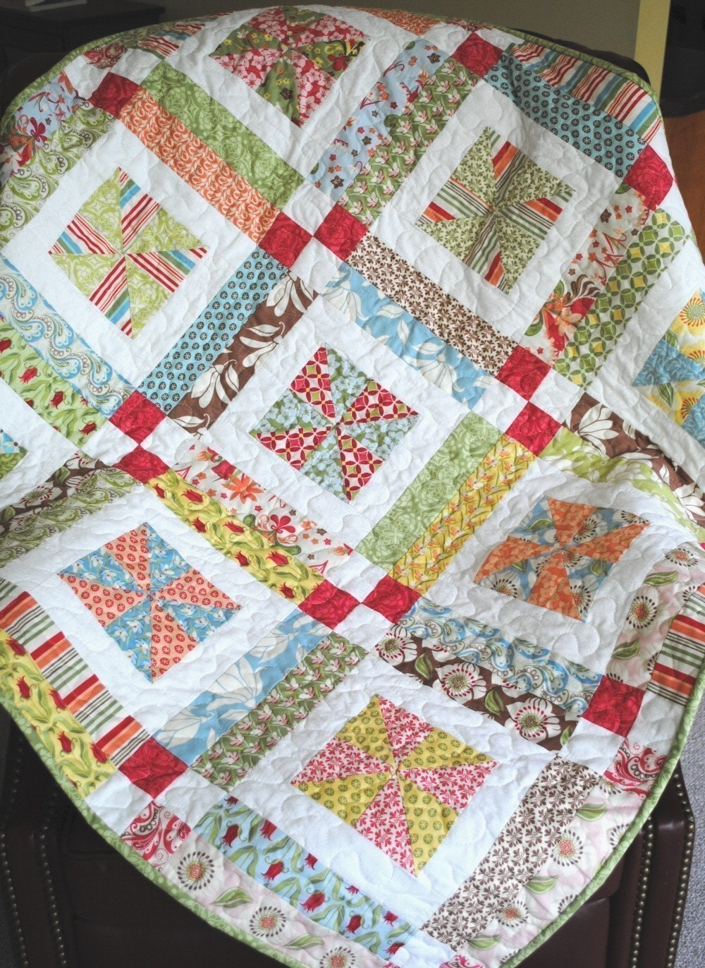 Quilt Patterns From Squares : QUILT PATTERN Layer Cake, Charm Squares or Fat Quarters QUICK and Easy eBay