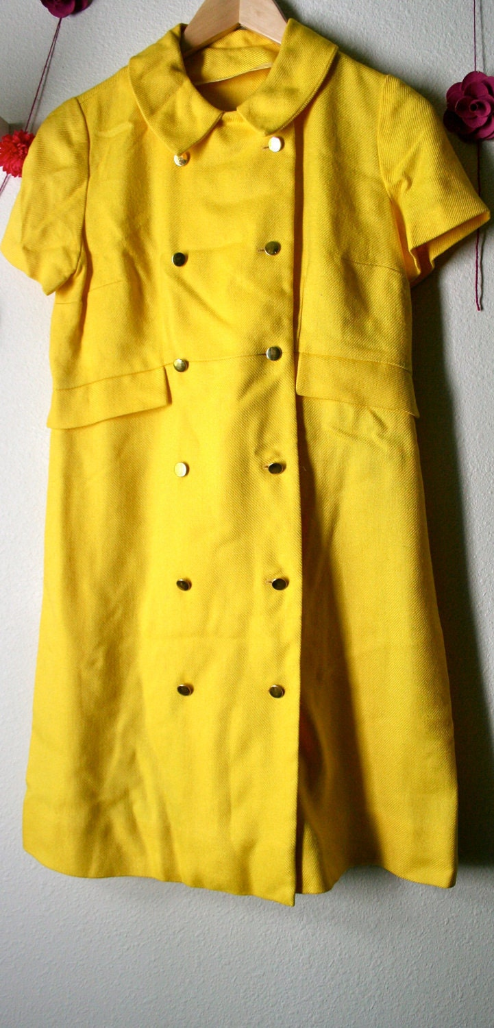 Mod Scooter Dress Lemon Yellow