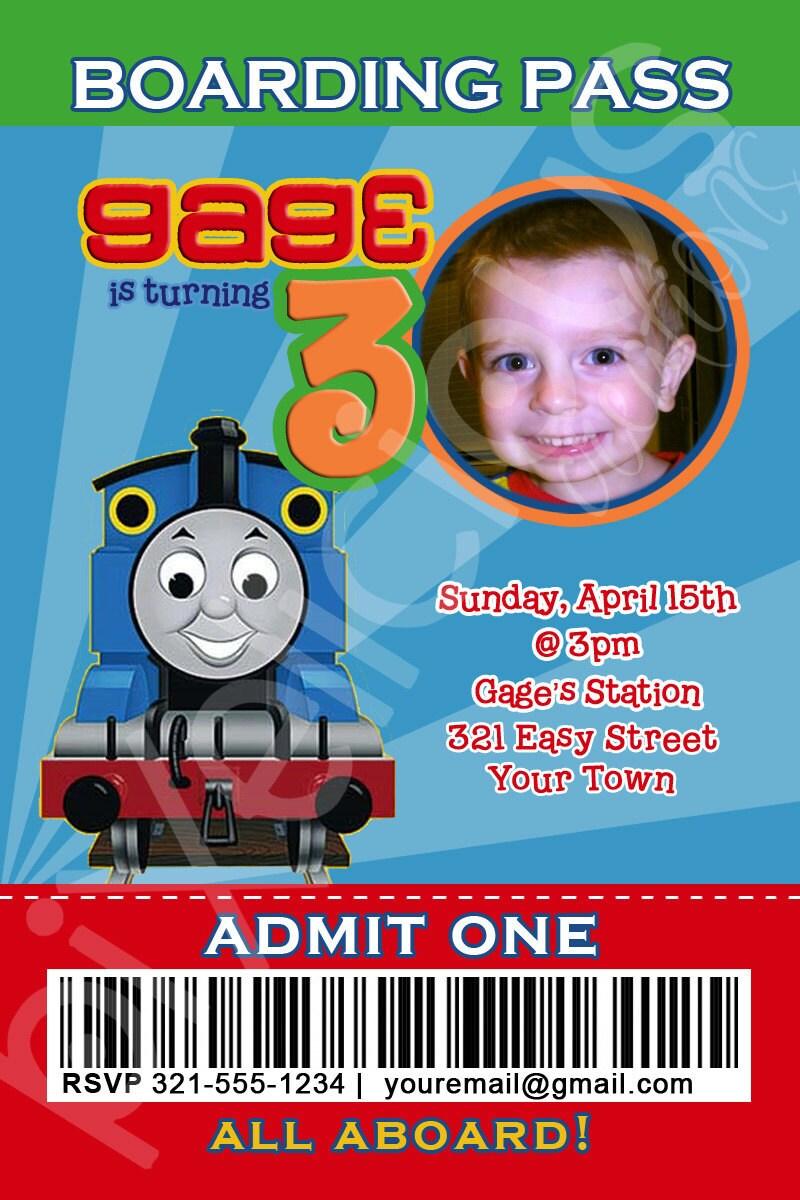 items similar to thomas the train custom photo birthday invitation digital file you print