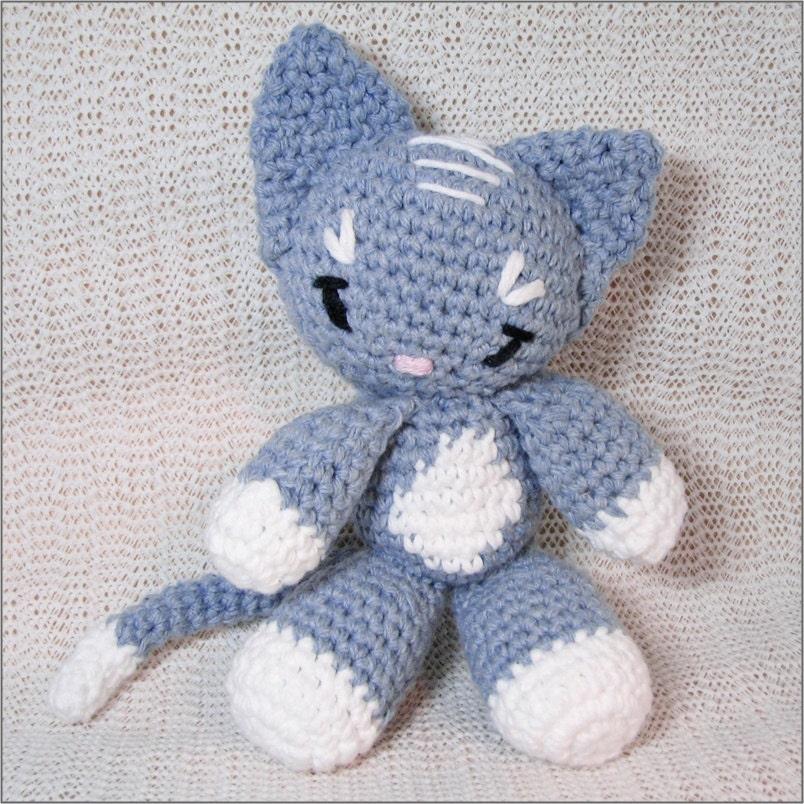 Handmade Sweet Amigurumi Neko Cuddle Cat                         Kitten