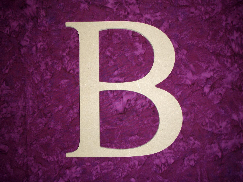 Unfinished Wood Greek Letter B Beta Symbol By