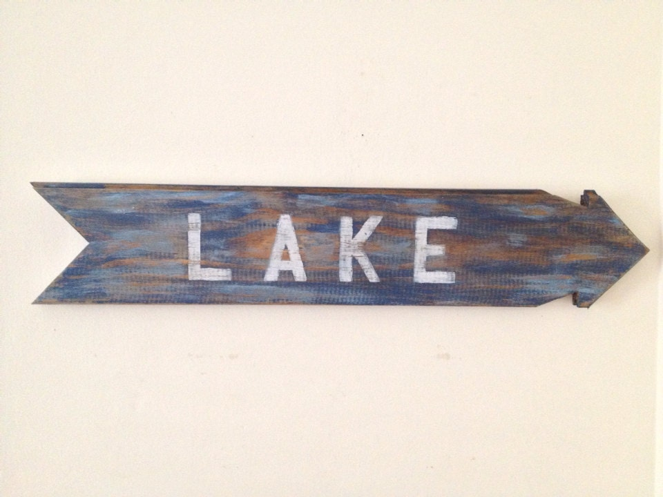 Lake Signs Wall Decor : Rustic lake sign wall decor made form reclaimed by onelove