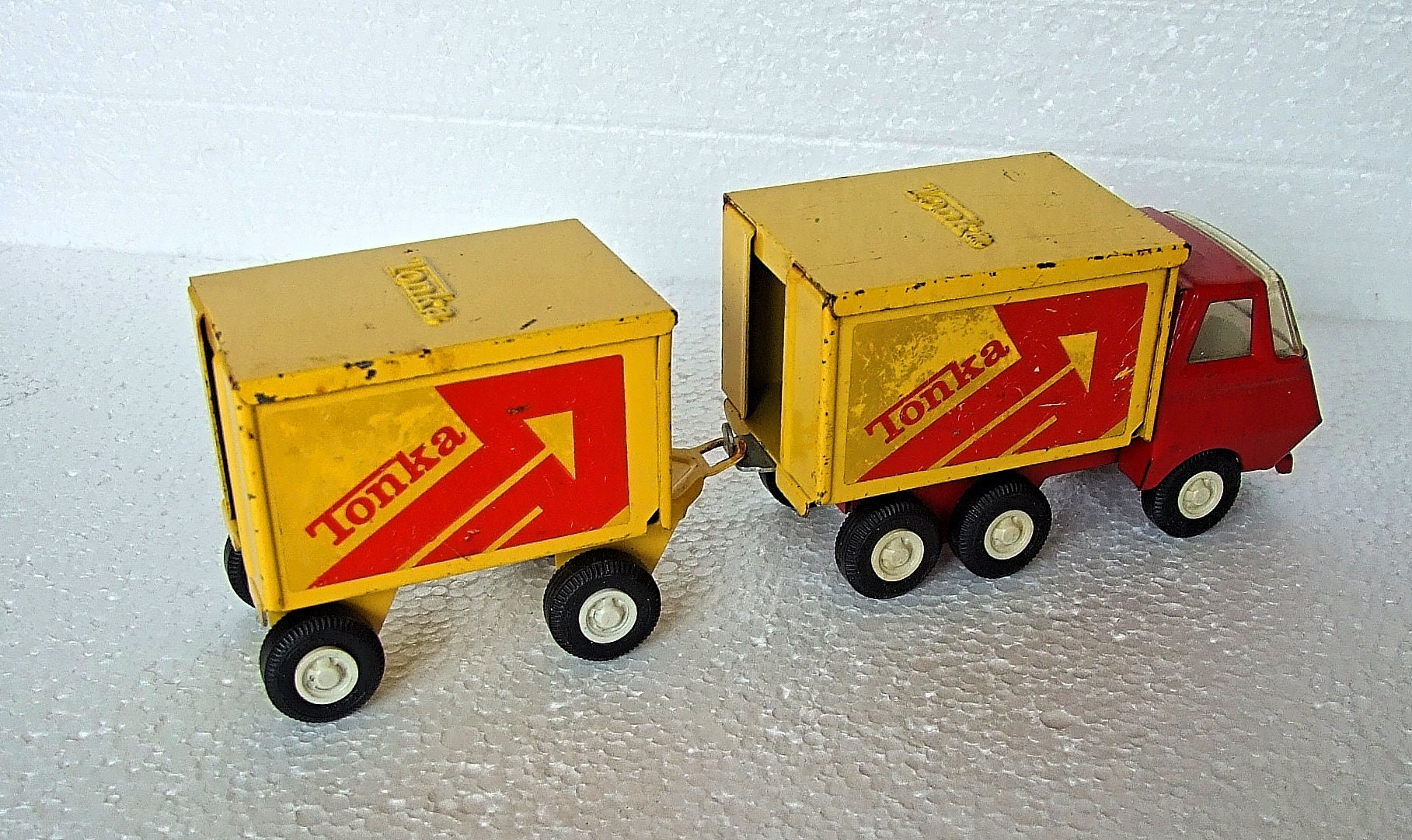Vintage Tonka Tandem Truck 55013, 55321.Wagon and Drag