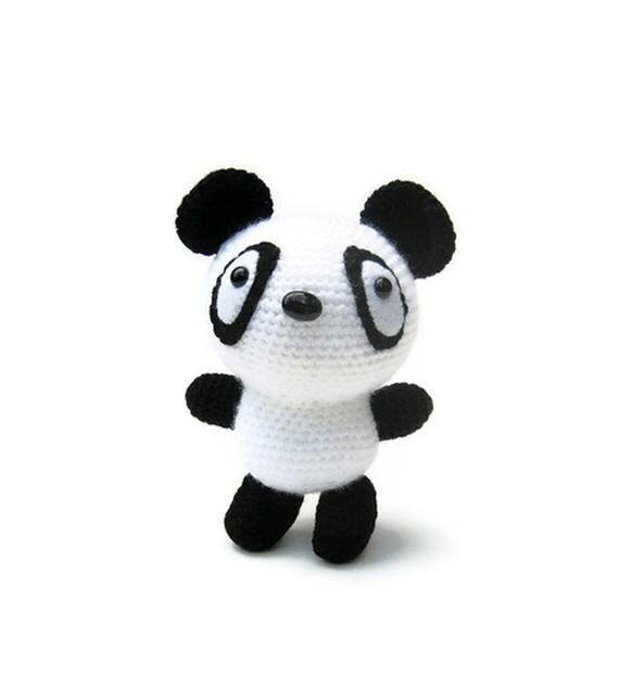 Kawaii Panda Amigurumi : Crocheted panda bear kawaii toy children plush amigurumi ...