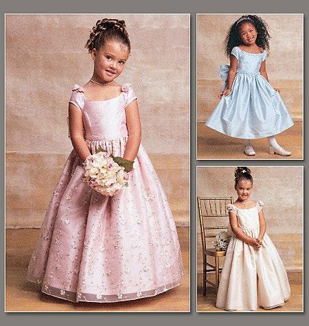 Fancy dress pattern vogue flower girl first communion dress
